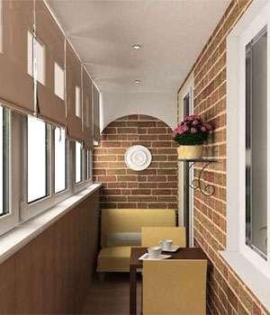 Комфортная отделка балкона